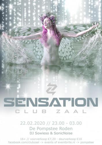 Club Zaal - Sensation poster nymph - Enjoy Events