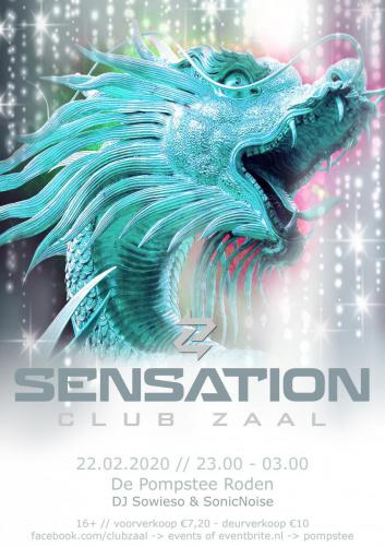 Club Zaal - Sensation poster draak - Enjoy Events