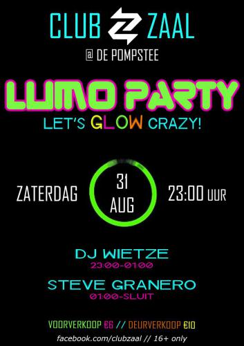 Club Zaal - 31aug2019 - Lumo - Poster - Enjoy Events