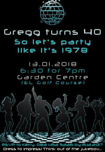 Gregg Birthday - Poster - Enjoy Events
