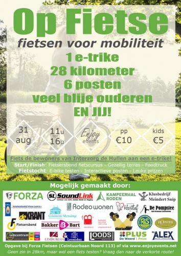 Op Fietse - Poster - Enjoy Events