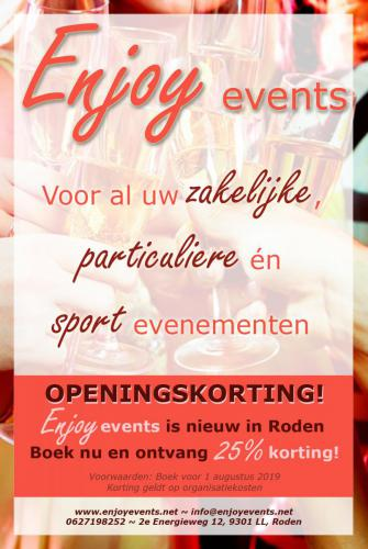 Opening advert Enjoy - Poster - Enjoy Events