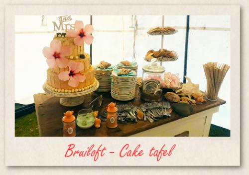 Bruiloft - Cake tafel