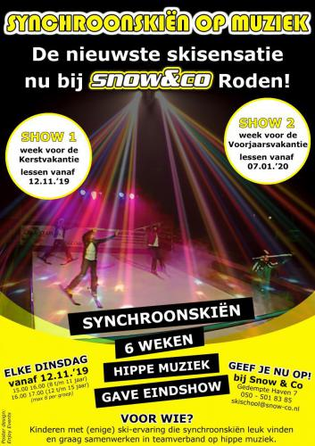 Synchroomskiën - Snow&Co - Poster - Enjoy Events