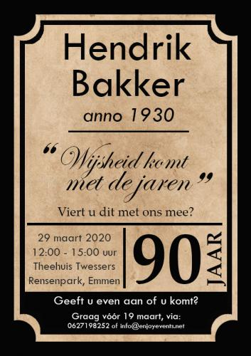 Uitnodiging 90 jaar - Enjoy Events