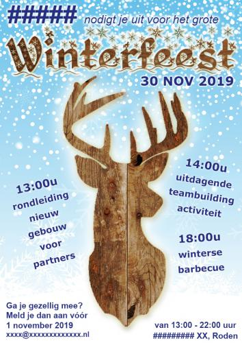 Uitnodiging personeelsfeest  - Winter - Enjoy Events